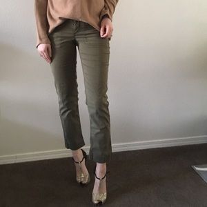 Anthro Hei Hei Braided Twill Trouser Ankle Pants